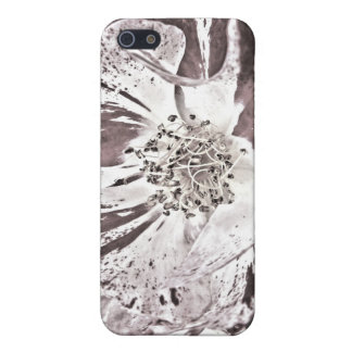 caso del iPhone 4 - flores rojas pálidas iPhone 5 Funda