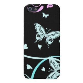 caso del iPhone 4 - mariposas en la noche iPhone 5 Protectores