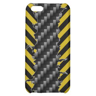 caso del iPhone 4 - negro amarillo plateado de met
