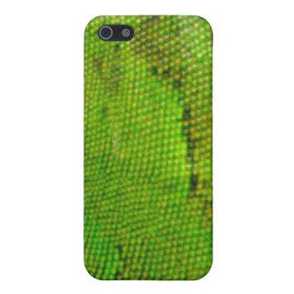caso del iPhone 4 - piel verde de la iguana iPhone 5 Fundas