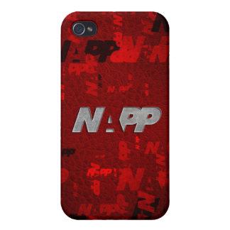 """caso del iPhone 4 por NAPP - """"NAPP artsy rojos """" iPhone 4 Fundas"""