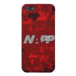 """caso del iPhone 4 por NAPP - """"NAPP artsy rojos """" iPhone 5 Cárcasa"""