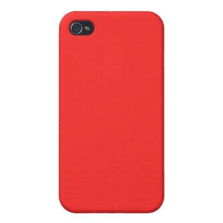 caso del iPhone 4 - sólido - rojo vibrante iPhone 4 Protectores
