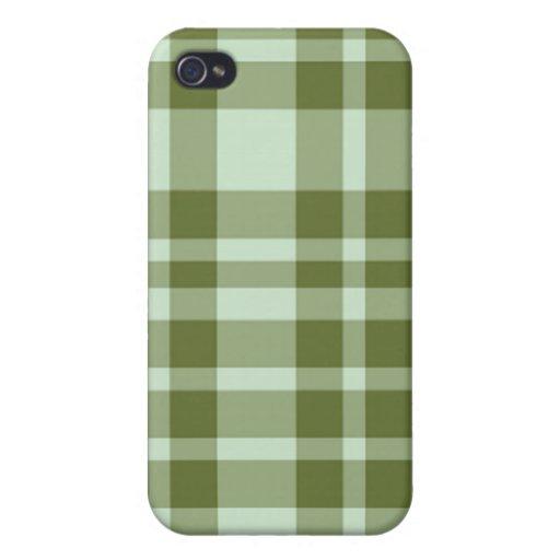 caso del iPhone 4 - tela escocesa sólida - alga ma iPhone 4 Cárcasa
