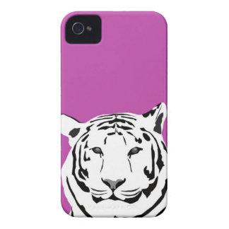 caso del iPhone 4 - tigre en Cerise iPhone 4 Carcasas