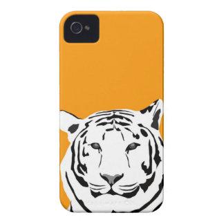 caso del iPhone 4 - tigre en el naranja iPhone 4 Carcasas