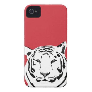 caso del iPhone 4 - tigre en rojo iPhone 4 Funda
