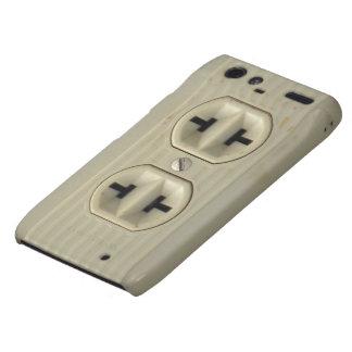 Caso del iPhone 4G del enchufe de pared del vintag Motorola Droid RAZR Fundas
