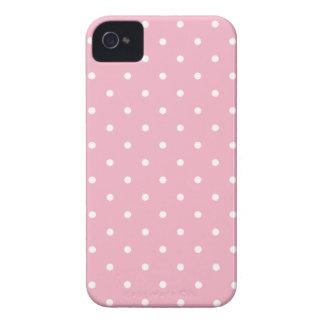 Caso del iPhone 4S del lunar del rosa del estilo iPhone 4 Protectores