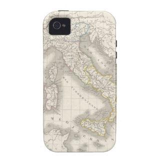 Caso del iPhone 4S del mapa de Italia del Viejo Case-Mate iPhone 4 Carcasa
