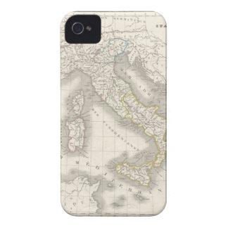 Caso del iPhone 4S del mapa de Italia del Viejo Mu iPhone 4 Carcasa