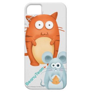 caso del iPhone 5/5S: BeanyTeam™ - gato y ratón Funda Para iPhone SE/5/5s
