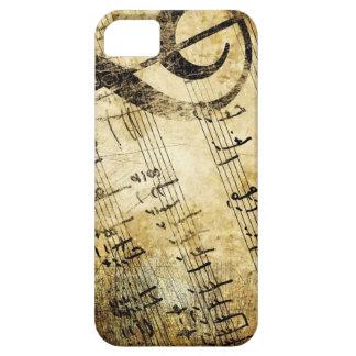 caso del iphone 5/5s con la vieja música única she iPhone 5 cárcasa