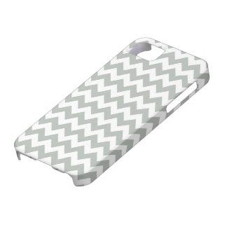 Caso del iPhone 5/5S de Chevron de los gris platea iPhone 5 Case-Mate Carcasas