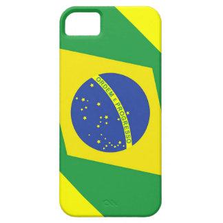 Caso del iphone 5/5S de la bandera del Brasil Funda Para iPhone 5 Barely There