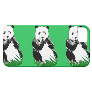 Caso del iPhone 5/5s de las pandas iPhone 5 Protectores