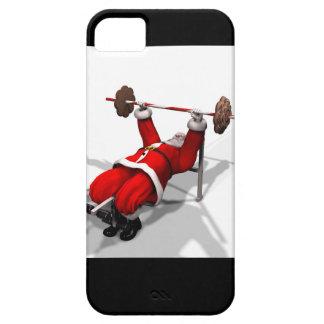 Caso del iphone 5/5s de los benchpress de Santa iPhone 5 Case-Mate Protector