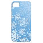 Caso del iPhone 5/5S de los copos de nieve iPhone 5 Carcasas
