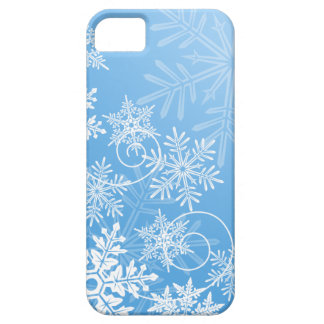 Caso del iPhone 5/5S de los copos de nieve iPhone 5 Funda