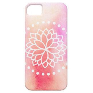 Caso del iPhone 5/5s de Lotus de la acuarela iPhone 5 Funda