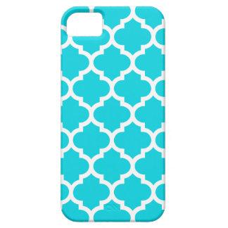 Caso del iPhone 5 5S de Quatrefoil en aguamarina iPhone 5 Case-Mate Carcasa