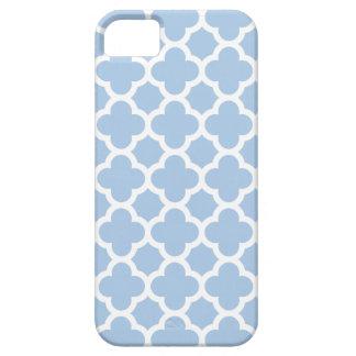 Caso del iPhone 5 5S de Quatrefoil en azul apacibl iPhone 5 Case-Mate Carcasa