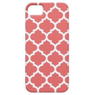 Caso del iPhone 5 5S de Quatrefoil en el rojo de P iPhone 5 Protector
