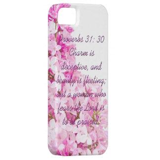 Caso del iPhone 5/5s del 31:30 de los proverbios iPhone 5 Carcasa