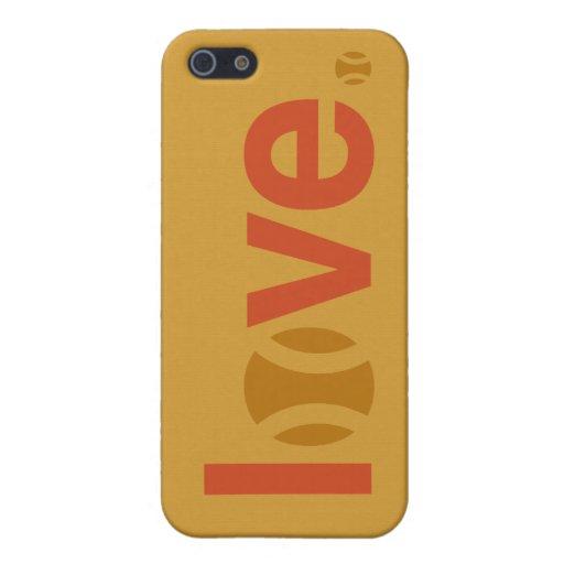 Caso del iPhone 5/5s del amor del tenis iPhone 5 Protectores