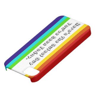 Caso del iPhone 5/5S del arco iris de la diversión iPhone 5 Funda