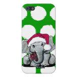 Caso del iPhone 5/5S del elefante de Santa iPhone 5 Fundas