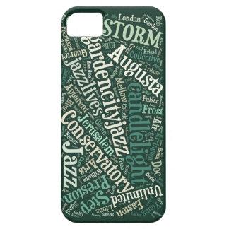 Caso del iPhone 5/5s del jazz de Augusta (verde) Funda Para iPhone SE/5/5s