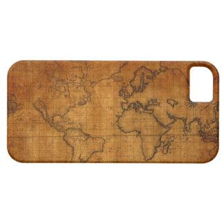 Caso del iPhone 5/5S del mapa del mundo del Funda Para iPhone SE/5/5s