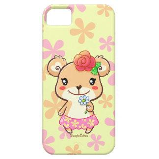 Caso del iPhone 5/5S del oso de la flor del tiempo iPhone 5 Carcasas