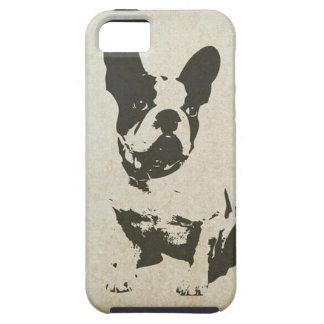 Caso del iPhone 5/5s del perro del vintage iPhone 5 Protector