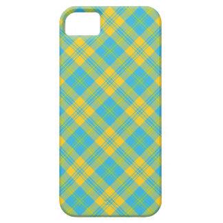 caso del iPhone 5 5s Verde amarillo azul Tela es