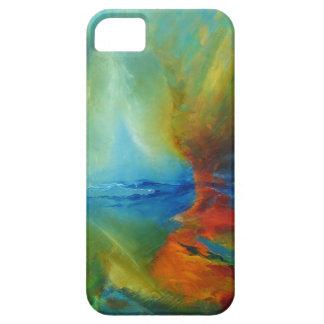 """caso del iPhone 5, aceite abstracto """"ángeles """" iPhone 5 Fundas"""