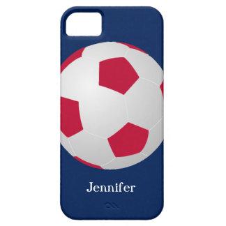caso del iPhone 5 balón de fútbol rojo blanco iPhone 5 Carcasas