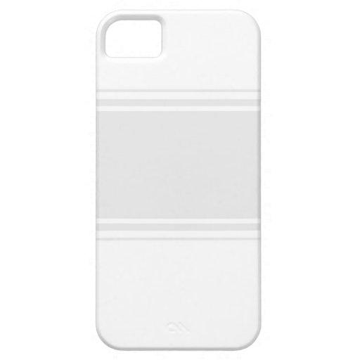 caso del iPhone 5: Blanco con la raya gris iPhone 5 Case-Mate Cárcasas