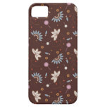 caso del iPhone 5 - Brown floral iPhone 5 Case-Mate Carcasas
