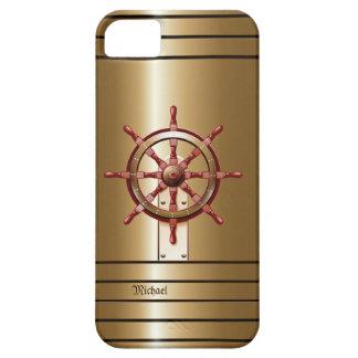 Caso del iPhone 5 c del marinero de oro del timón iPhone 5 Case-Mate Protector