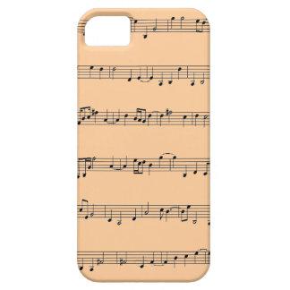 caso del iPhone 5 con diseño de la hoja de música Funda Para iPhone 5 Barely There