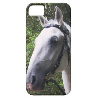 caso del iPhone 5 con el caballo blanco en freno y iPhone 5 Case-Mate Protector