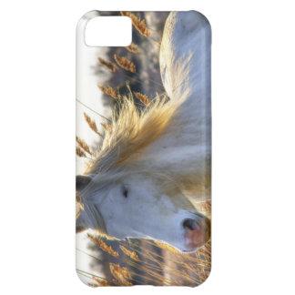caso del iPhone 5 con el caballo blanco hermoso