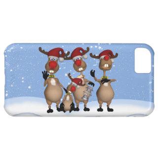 caso del iPhone 5 con el reno del invierno del can