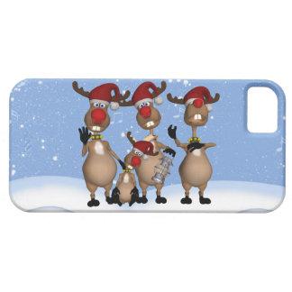 caso del iPhone 5 con el reno del invierno del iPhone 5 Funda