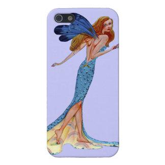 caso del iPhone 5 con imagen de hadas en azul iPhone 5 Cárcasa