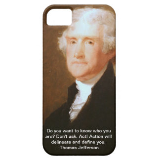 caso del iPhone 5 con la cita de Thomas Jefferson iPhone 5 Funda