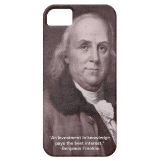 caso del iPhone 5 con la imagen y la cita de Funda Para iPhone SE/5/5s