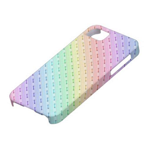 caso del iPhone 5 - costura del arco iris iPhone 5 Cobertura